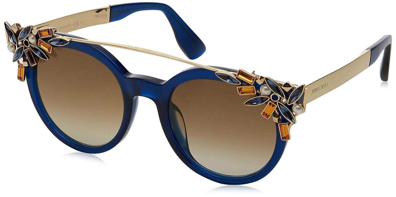 Amazon.com: Jimmy Choo VIVY/S 1UN6Y (Blue - Gold with Brown ...