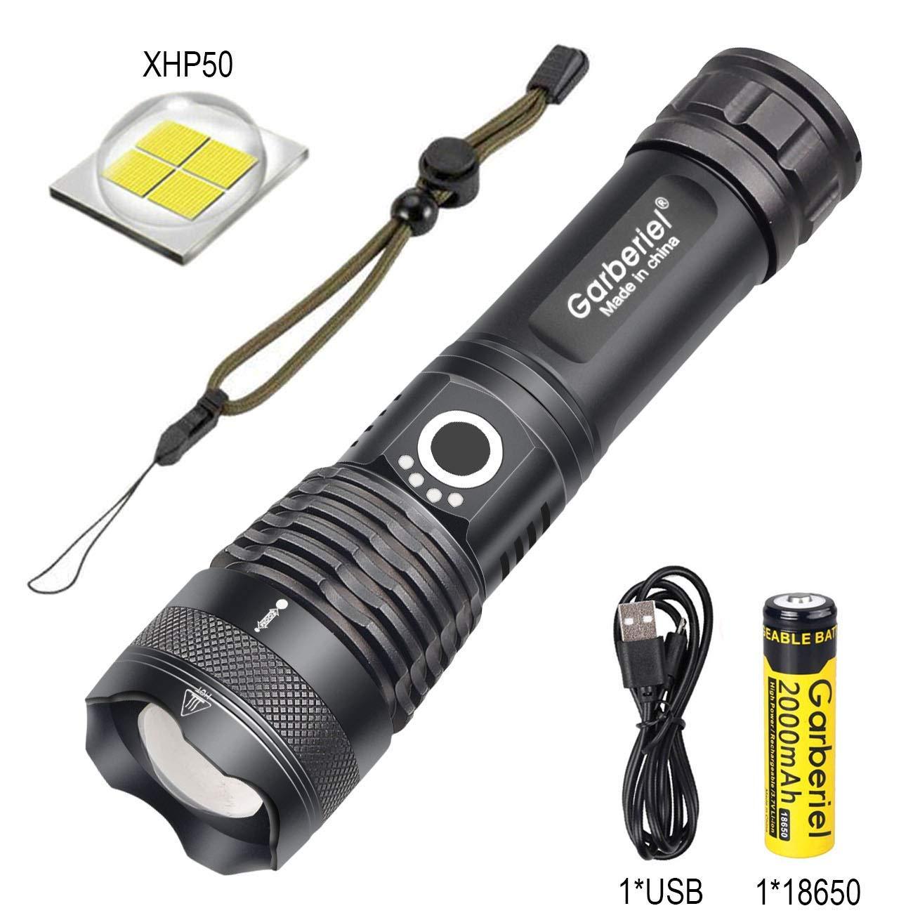 500000 Lumen XHP50 5-Modus LED USB Wiederaufladbare 18650 Taschenlampe