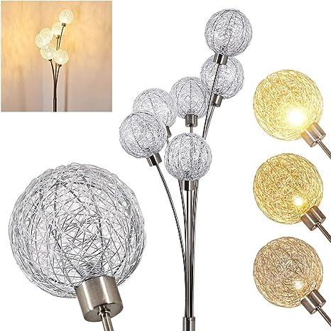 LED Stehlampe Ø20cm in Chrom Leseleuchte Schalter Stehleuchte Lampe Modern NEU
