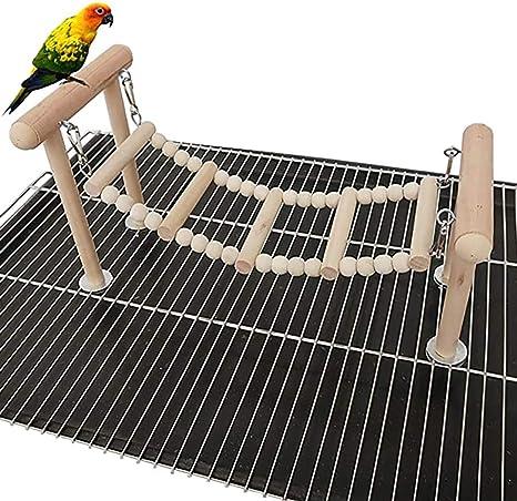 DEDC Soporte para Perchas de Pájaro, Juguete para Loro Columpio Escalada, Parques de Juegos para Periquitos, Cacatúas, Pájaros y Aletas de ...