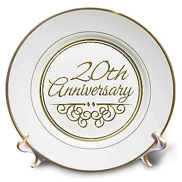 3drose Cp 154462 1 20th Anniversary Cadeau Doré Texte Pour