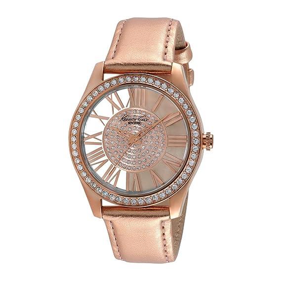 Kenneth Cole New York – Reloj de pulsera analógico para mujer piel 10012486/kc2829