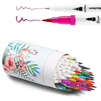 Amazon.com: Ohuhu Art Markers Dual Tips Coloring Brush Pen ...