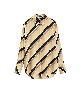 e766a1493 MANGO Women Multicolor Striped Shirt 41060848 at Amazon Women's ...