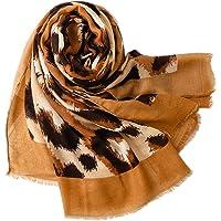 "ChawYI Leopard Print Tassel Scarf Oversized Fashion Scarf 35.4""x70.9"""