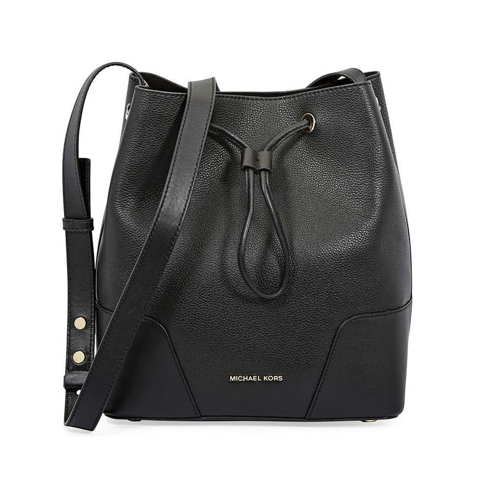 93f10183c215fd Michael Kors Cary Small Bucket Bag, Women's Tote, Black, 16x25x24 cm (B x H  T): Amazon.co.uk: Shoes & Bags