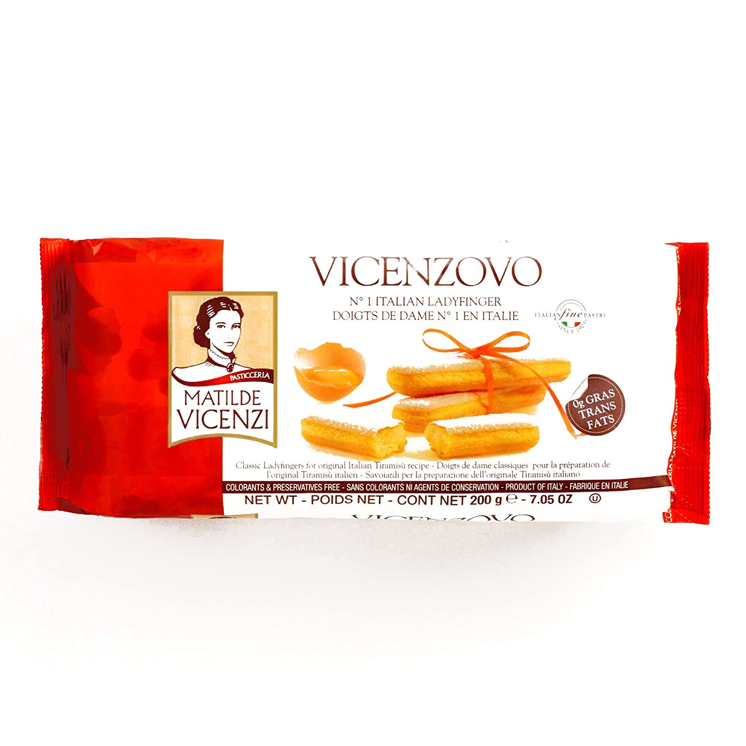 Vicenzi Vicenzovo Ladyfingers 12-Pack 7 oz each (2 Items Per Order)