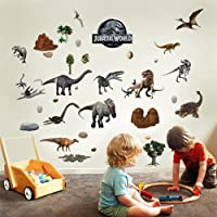"Dinosaur Wall Stickers For Bedroom Boys And Girls Living Room Decal Jurassic World Dinosaurs Wall Art T Rex Stickers Art Mural Decoration For Dino Wall Stickers Mural 3D Wall Wallpaper - Extra Large 73cm X 76 cm (28"" X 29"")"