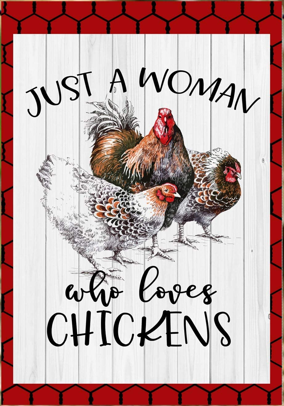 Flags Galore Decor & More Just A Woman Who Loves Chickens Garden Flag G1163