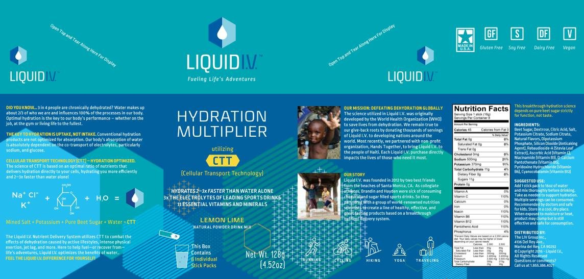 Liquid I.V. Hydration Multiplier Natural Drink Mix Powder Packets, 8 Ea (pack of 1)