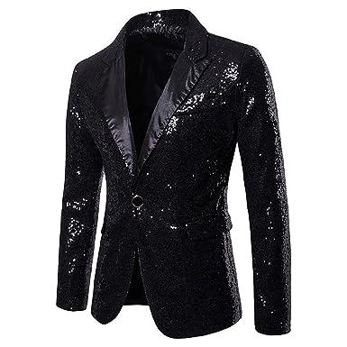 Shiny Gold Sequin Glitter Embellished Blazer Jacket Men Nightclub Prom Suit Blazer Men Costume Homme Stage