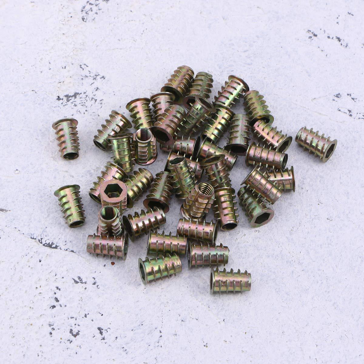 M6 * 15 mm M10 Inserto roscado Surtido de Tuercas de inserci/ón de Madera LAQI Tuerca de Unidad Hexagonal de Muebles de aleaci/ón de Zinc de 20 Piezas M6 M8