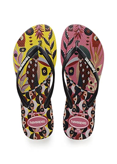 579c7f81a549af Havaianas Women s Slim Retratos Flip Flops  Amazon.co.uk  Shoes   Bags