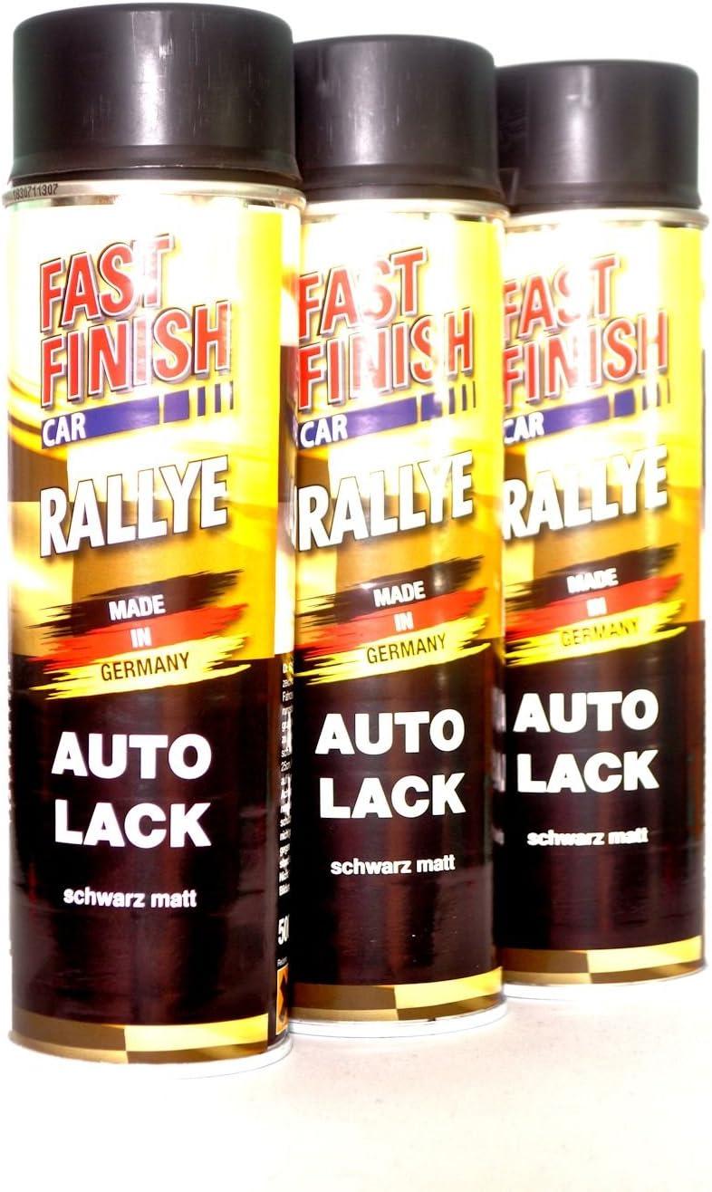 3x 500 Ml Fast Finish Rallye Felgenlack Schwarz Matt Spraydose Felgen 292828 Baumarkt