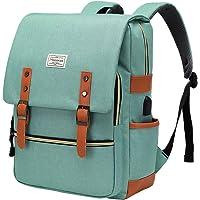 Modoker Vintage Laptop Backpack for Women Men, Slim Travel Backpack School College Bookbag with USB Charging Port…