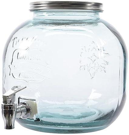 Botella de cristal con grifo jugo de cristal del vidrio de tiro de cristal Caja de