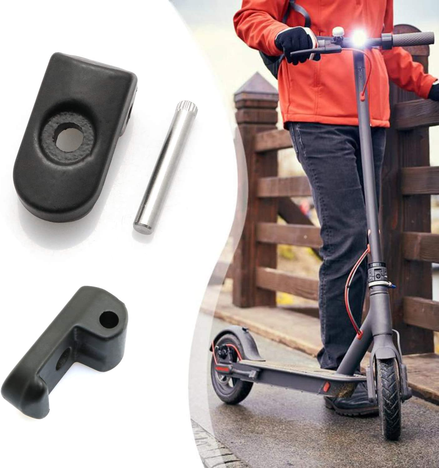 Alomejor1 Universal Folding Lock Buckle with Safety Pin High Hardness Folding Hook for XI-AO-MI M365//PRO Electric Scooter