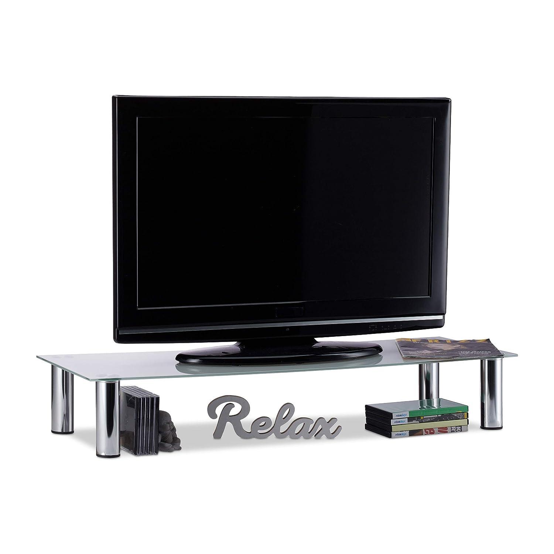 Porta Tv Lcd Vetro.Vidaxl Tavolino Porta Tv Alza Schermo Porta Tv Salotto 80x35x17 Cm