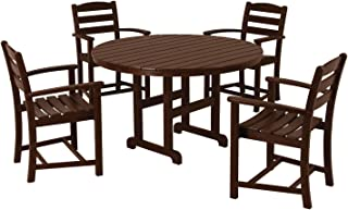 product image for POLYWOOD PWS132-1-MA La Casa Café 5-Piece Dining Set, Mahogany