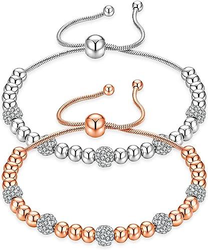KnSam Women Rose Gold Plate Pierced Stud Earrings Big Dipper Swing Crystal Rhinestone Champagne