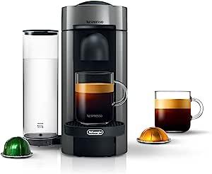 Nespresso VertuoPlus Coffee and Espresso Maker by De'Longhi, Grey