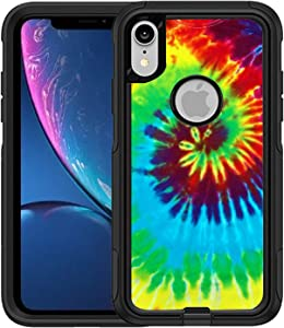 Teleskins Protective Designer Vinyl Skin Decals/Stickers Compatible with Otterbox Commuter iPhone Xr Case -Tie Dye Design Patterns - only Skins and not Case