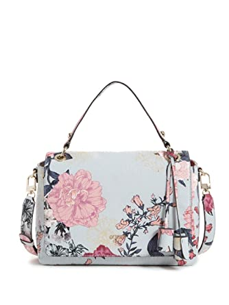 GUESS Seraphina Floral Flap Satchel