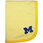 Michigan Wolverines Block M NCAA Newborn Infant Toddler Baby Blanket 33  x 36