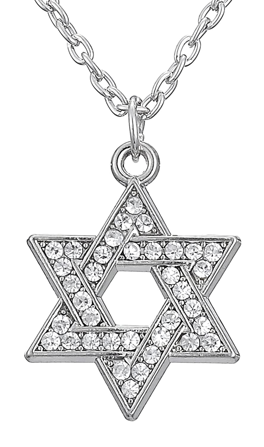 Religious Jewish Star of David Crystal Hexagram Magen David Pendant Solomon Necklace Amulet Women Jewelry YiYou