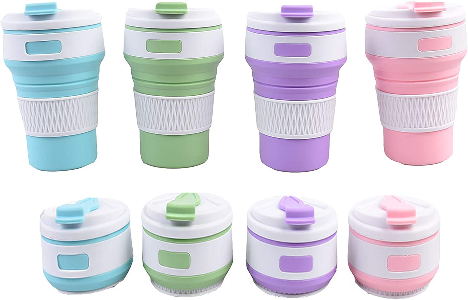 JVLM Home Collapsible Cup Silicone Foldable Cup Mug Camping Outdoor BPA Free FDA