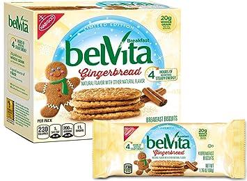 Belvita Gingerbread Breakfast Biscuits 5 Count Box 8 8 Ounce
