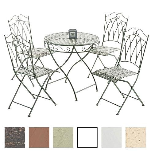 Amazon.de: CLP Eisen Gartenmöbel Set / Metall Garten-Sitzgruppe ...