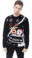 V28 Men's Christmas Reindeer Snowman Penguin...