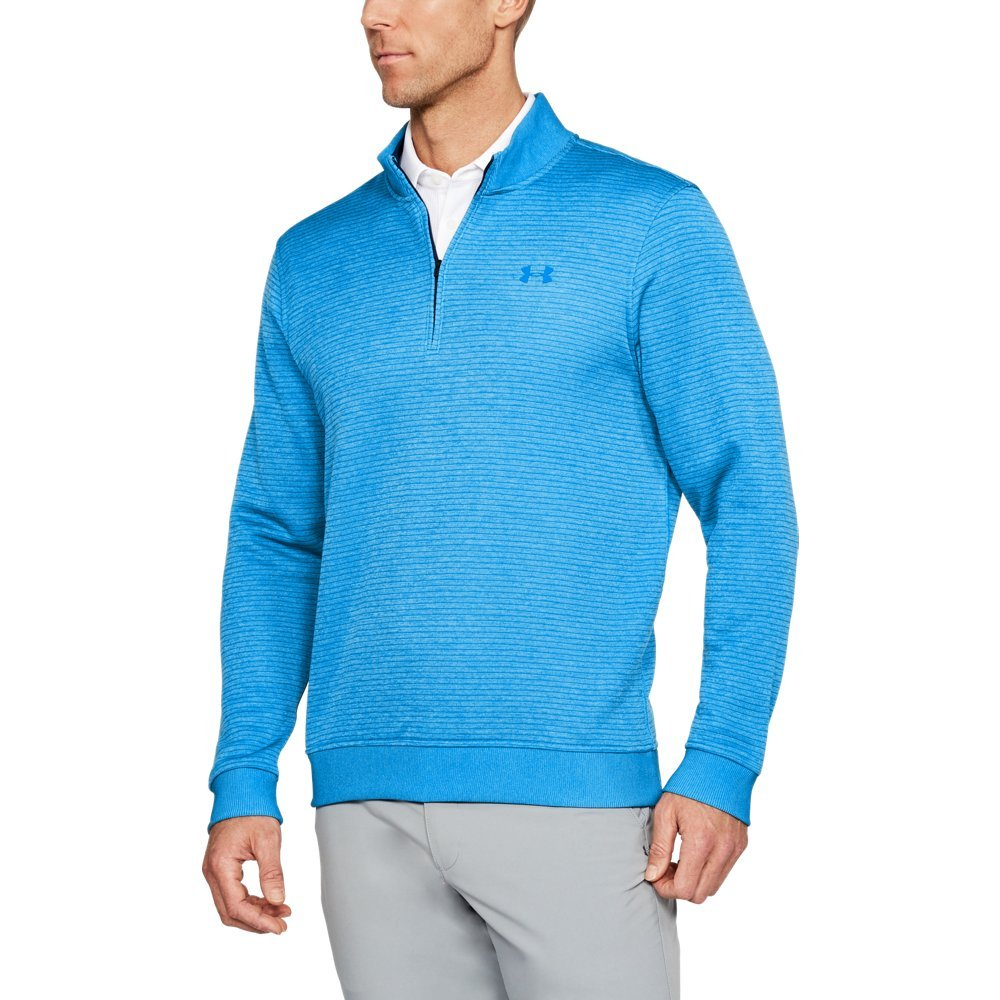 Under Armour Men's Storm SweaterFleece Patterned ¼ Zip,Mako Blue/Academy, Large