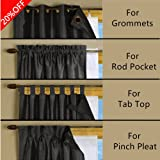 Blackout Liner for Window Curtain Multi-Use for different Window Panel Drapes Blackout Liner for Living Room White , 45 Inch Width By 77 Inch Long 1 Panel