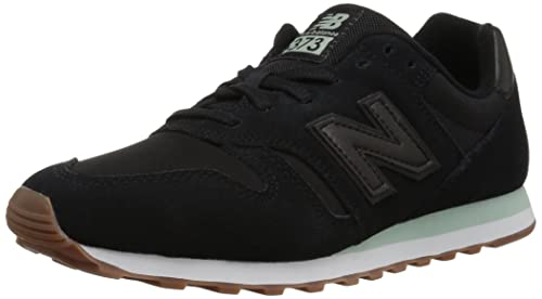 new balance trainers black women 373