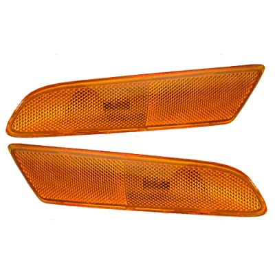 Pair Set Signal Side Marker Lights Lamps Replacement for Lexus 02-03 ES300 & 04-06 ES330 81741-33021 81731-33021 AutoAndArt: Automotive
