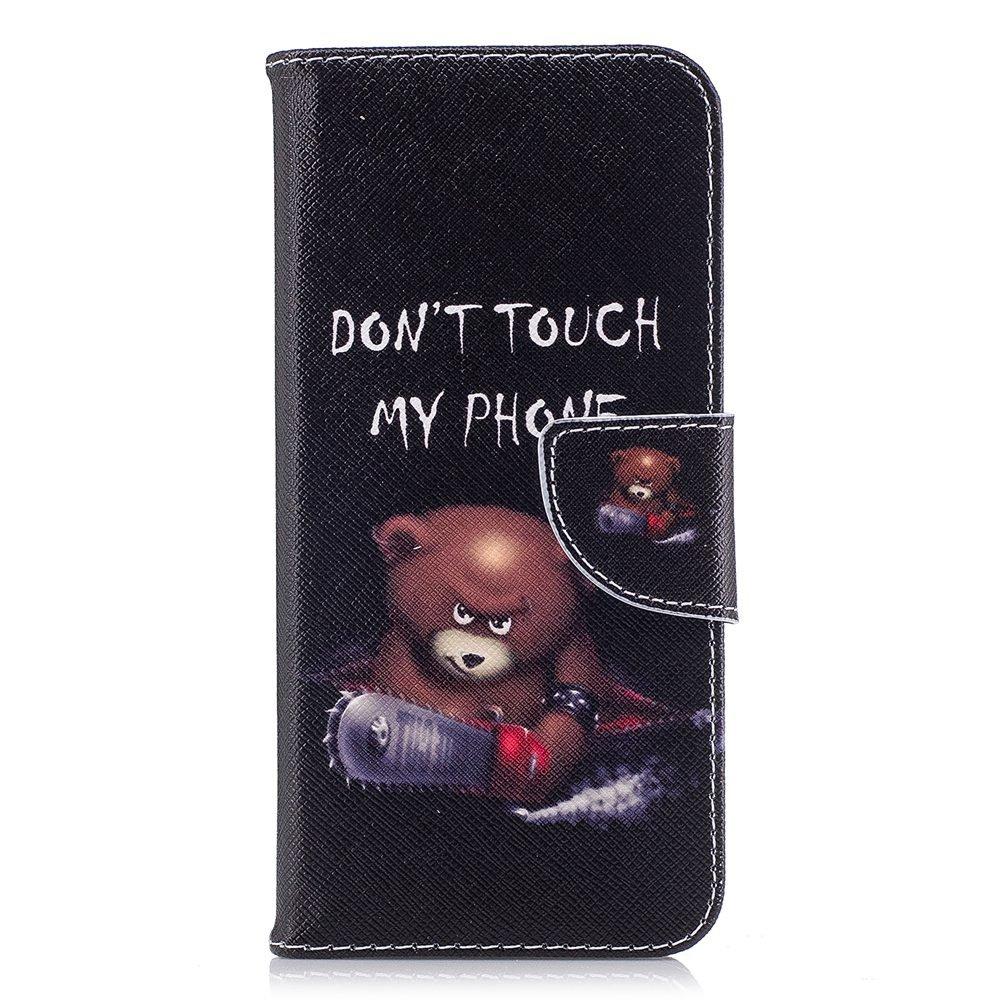 Wholesale 100pcs/lot Bear Butterfly Multi-patterns Flip Leather Case for Samsung Galaxy S9/S9 Plus/S8/S8 Plus/S7/S7E/S6/S5 etc (Multi-Color) by Vfunn (Image #3)