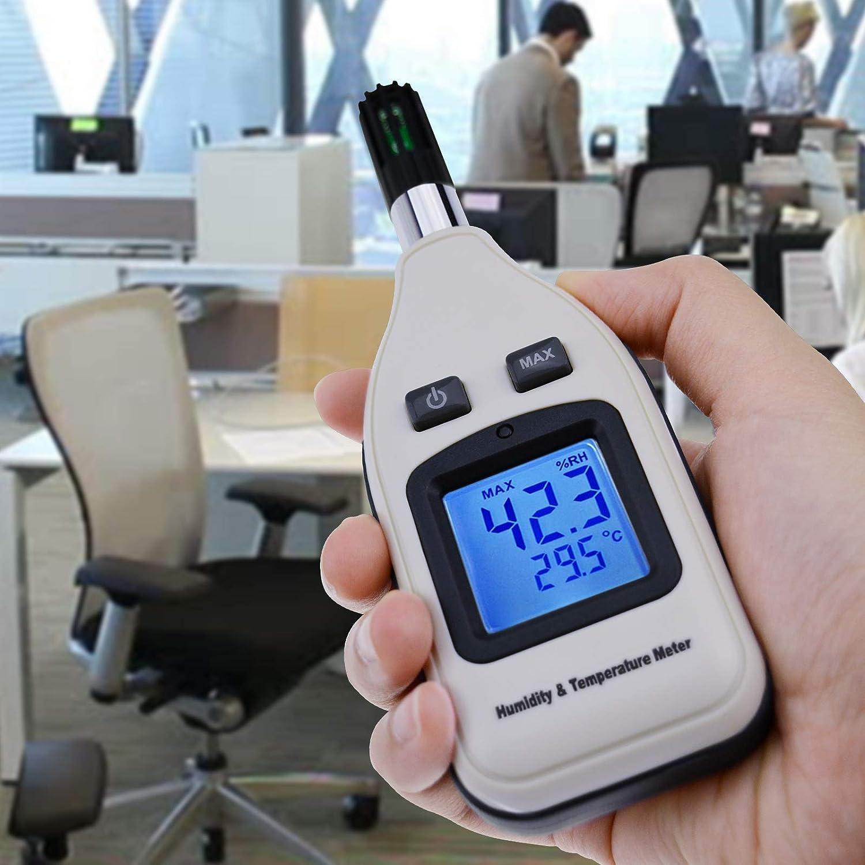-30~70 /° C Gain Express Medidor Digital de Humedad y Temperatura de Mano 0~100/% HR