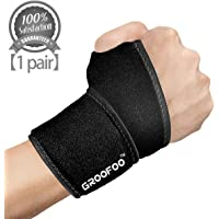 GROOFOO Wrist Brace, Wrist Support Wrap for Men & Women, Stabilize Wrist for Gym Yoga Weight Lifting, Relieve Wrist Injuries,Arthritis,Sprains