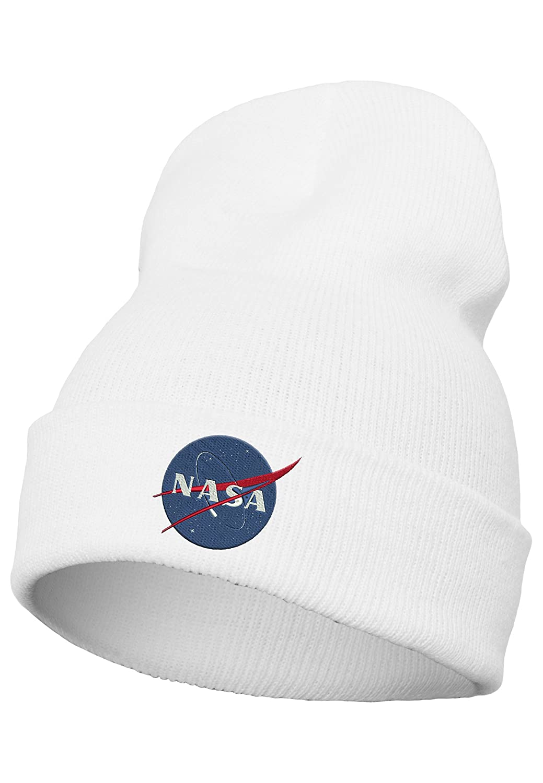 Mister Tee NASA Insignia Beanie, Unisex, NASA Insignia Beanie, bianco, Taglia unica