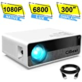 """Projector,CiBest Q9 Native 1080P HD Video Projector 6800 Lux, up to 300"""" Image 2K Supported,Display Ideal for PPT Business Presentations Home Theater Entertainment Parties Games"""