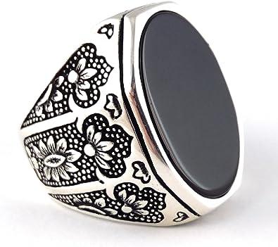 Turco hecha a mano joyería 925 Sterling Silver Anillo Diseño Águila para hombre Talla 11