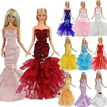 Amazon.es: Barwa 3 pcs, diseño de Sirena Vestido de Noche ...