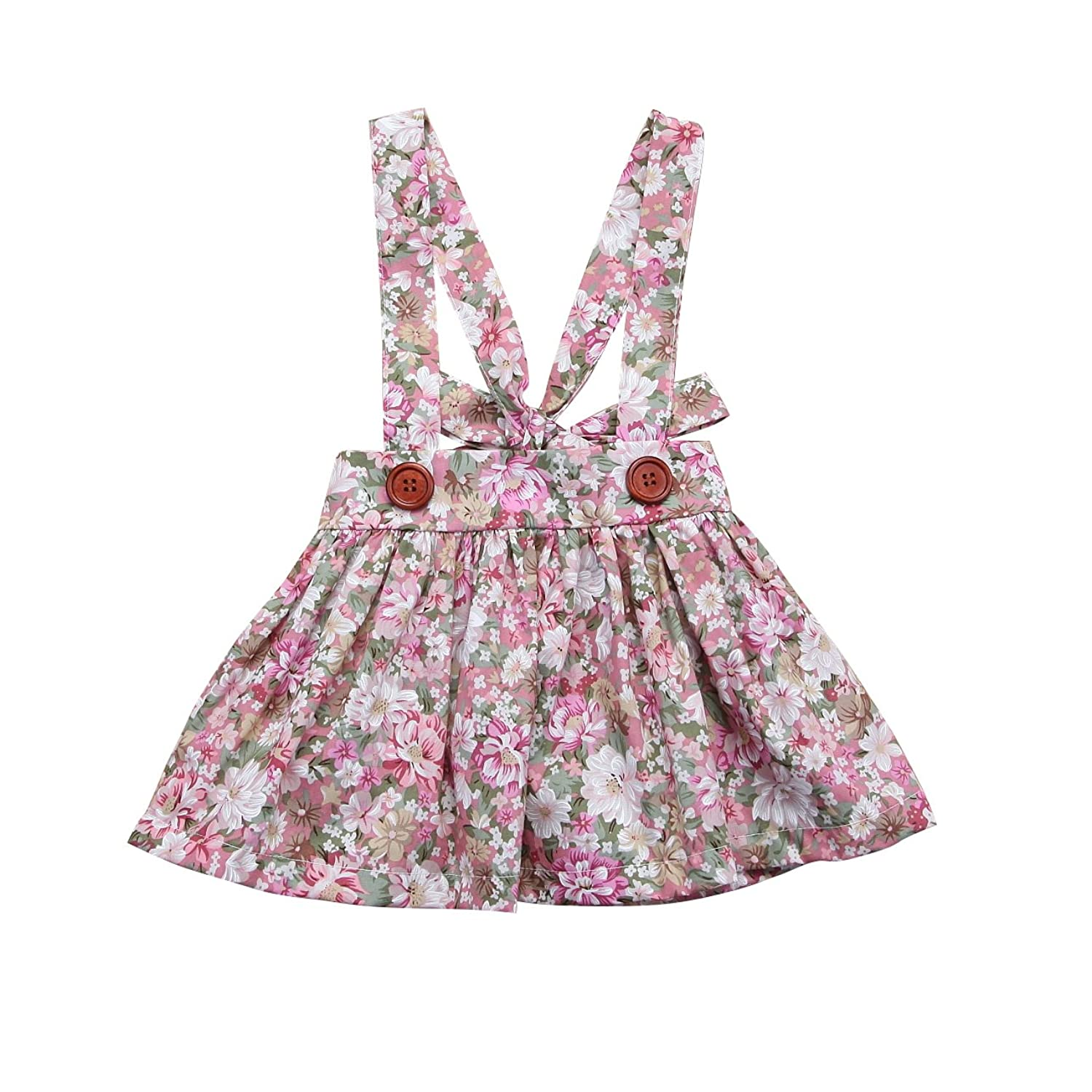 d1615e920 Beautiful flowers pattern, Adjustable Suspender featuring buttons and  bowtie, Super lovely adorable infant toddler dress. You can dress your little  girls in ...