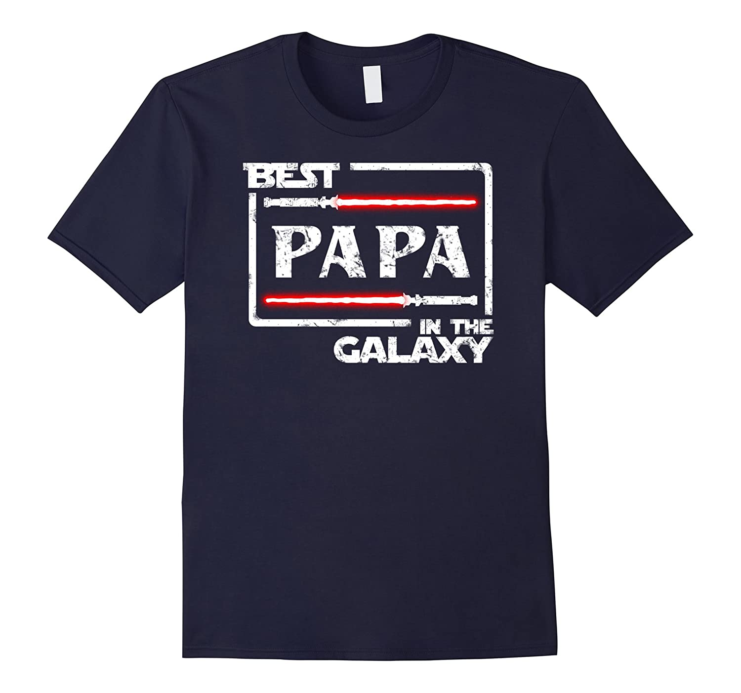 Mens Christmas Birthday Gift Best Papa In Galaxy T-Shirt-BN