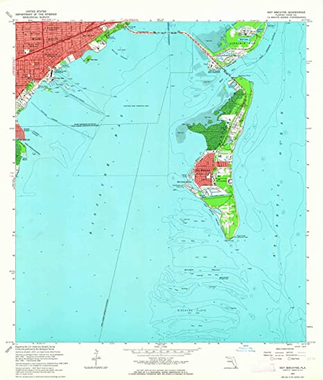 Amazon Com Yellowmaps Key Biscayne Fl Topo Map 1 24000 Scale 7 5