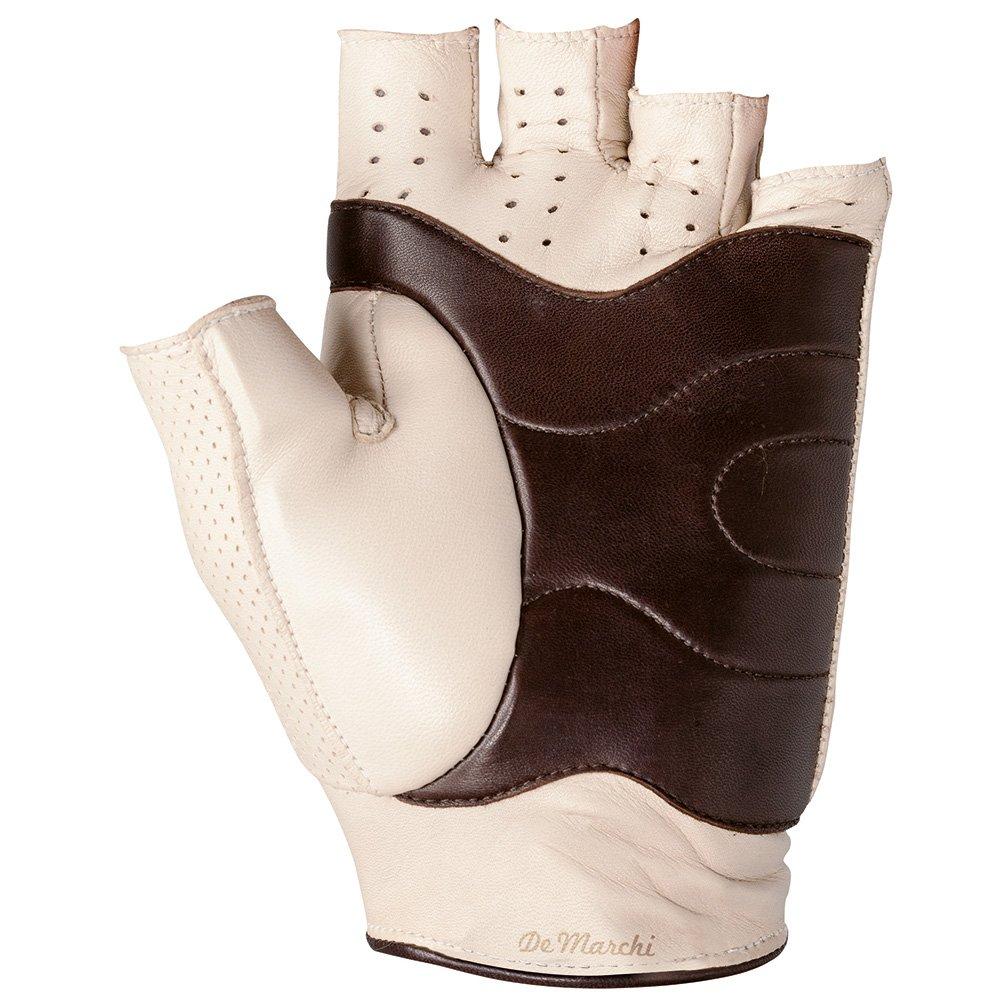 De Marchi Short Fingure Lamb Leather Soft Cream Leather Gloves