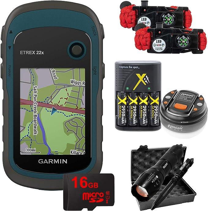 Blue Garmin eTrex 22x Rugged Handheld GPS