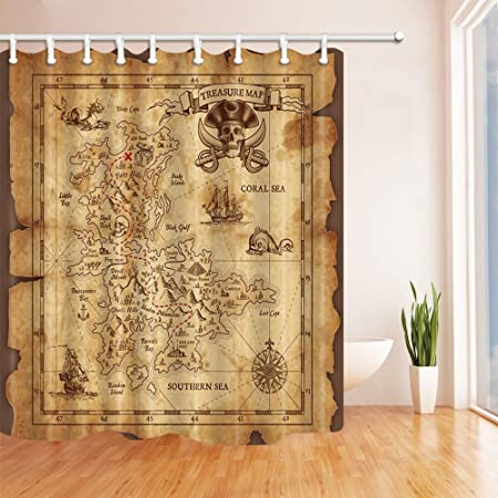 Kotom ancient world map shower curtains by jawo wanderlust retro kotom ancient world map shower curtains by jawo wanderlust retro style vintage pirate world map bath gumiabroncs Images
